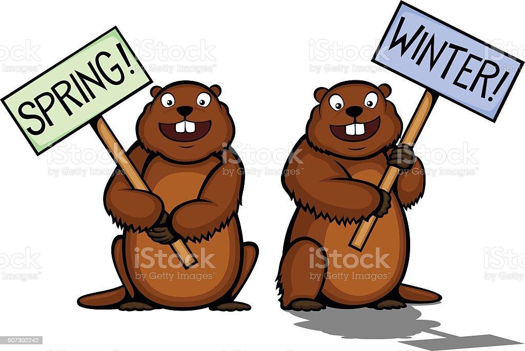 royalty free groundhog day clip art vector images illustrations rh istockphoto com groundhog clip art images groundhog clipart black and white