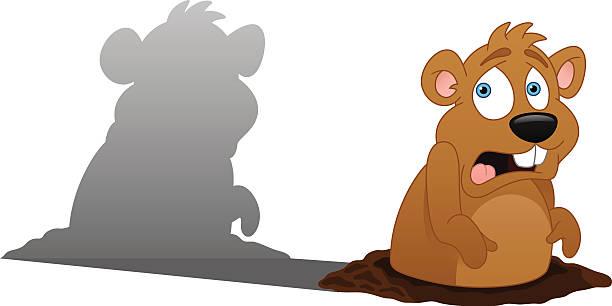ilustraciones, imágenes clip art, dibujos animados e iconos de stock de groundhog día - groundhog day