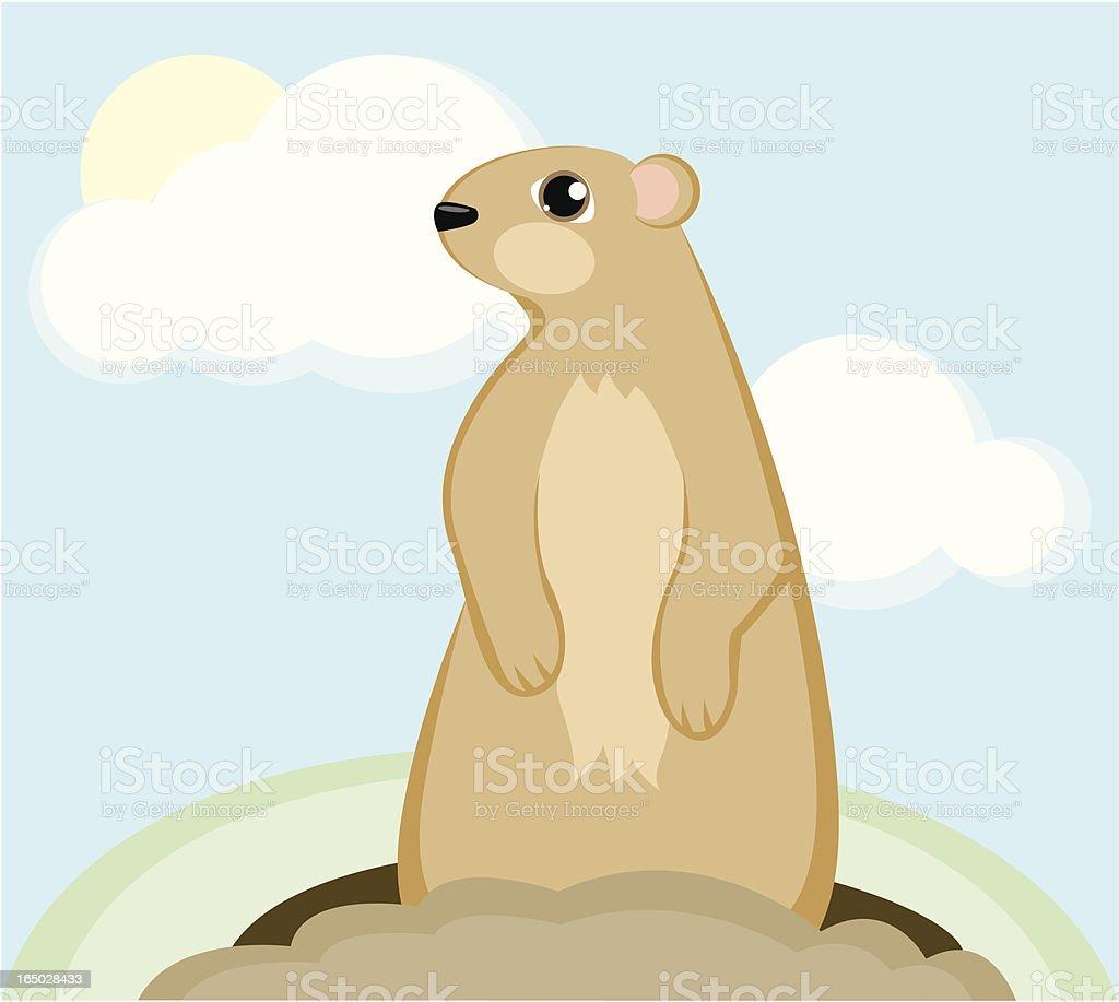 Groundhog royalty-free stock vector art