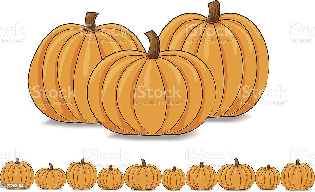royalty free clip art of a pumpkin border clip art vector images rh istockphoto com pumpkins clipart black and white pumpkin clip art coloring page