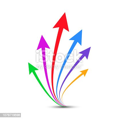 Group arrows directed upwards - vector