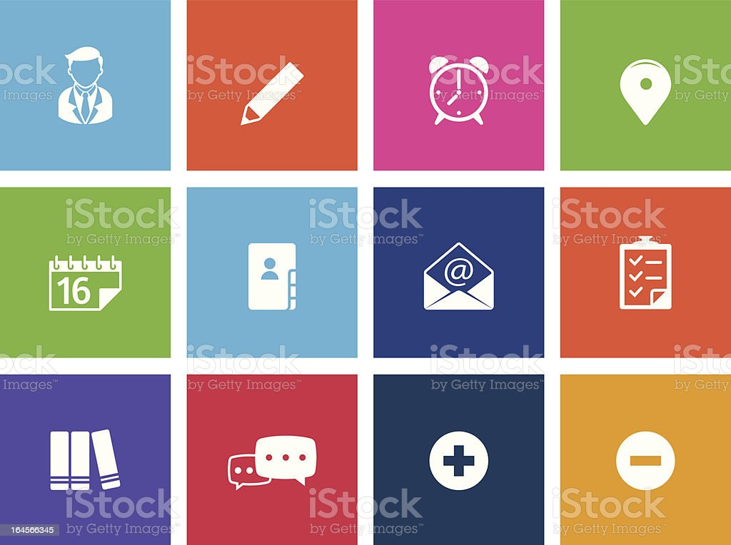 Group Collaboration Icons vector art illustration