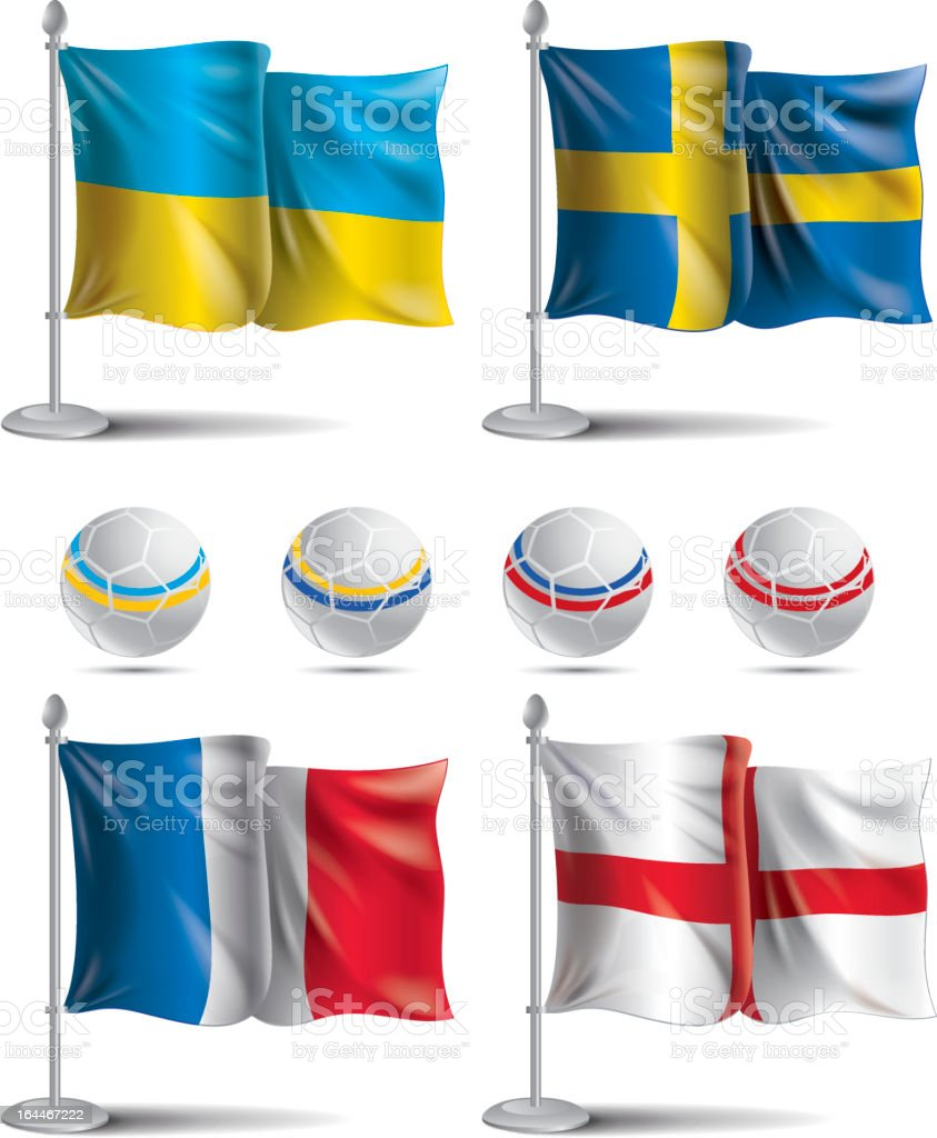 EURO 2012 Group D. Flags icons royalty-free euro 2012 group d flags icons stock vector art & more images of 2012