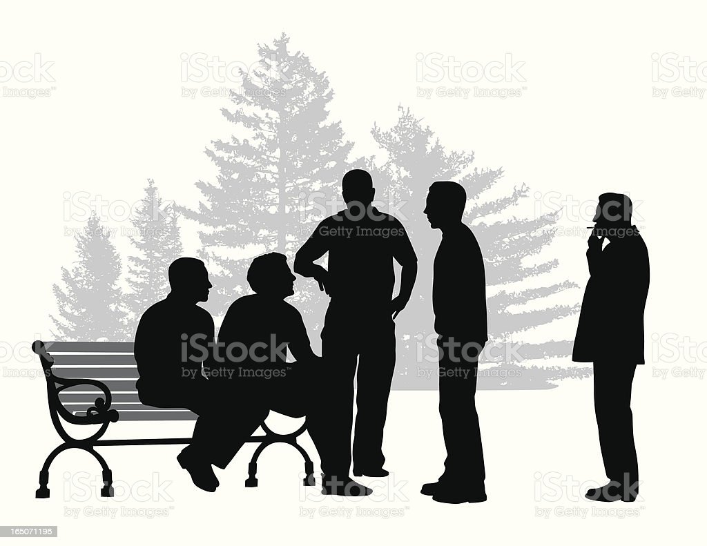 Group Dynamics Vector Silhouette royalty-free stock vector art