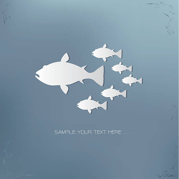 Gruppe Fisch-Konzept-Vektorgrafik – Vektorgrafik