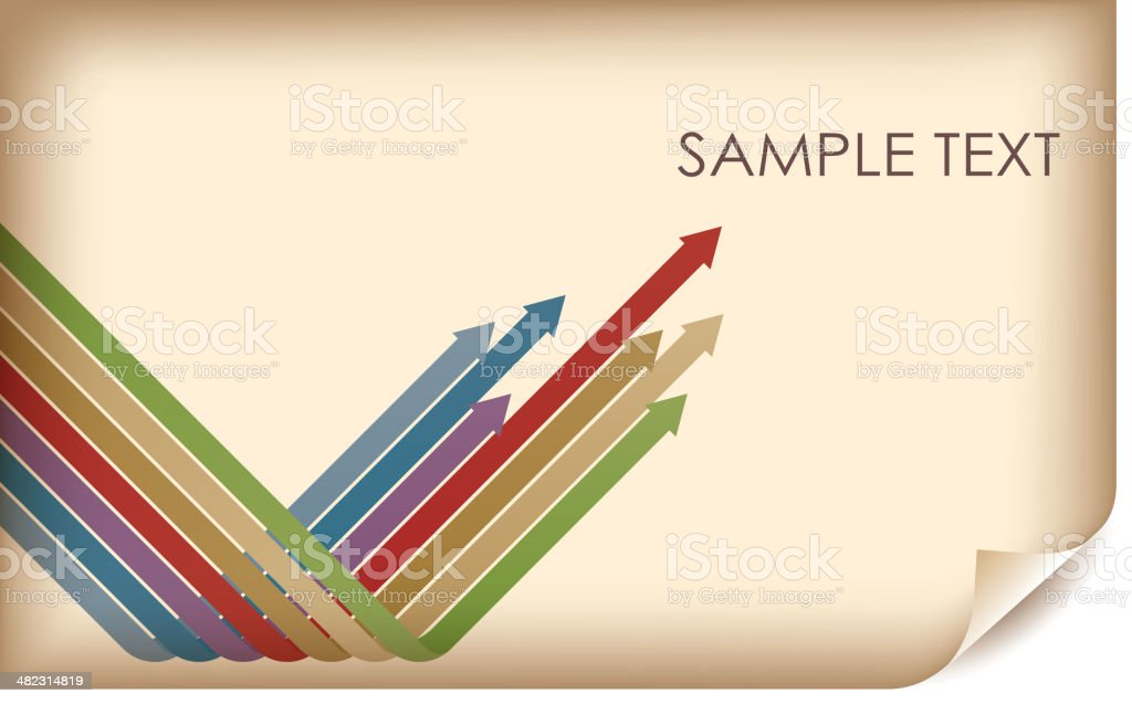 Group of arrows on parchment royalty-free stock vector art