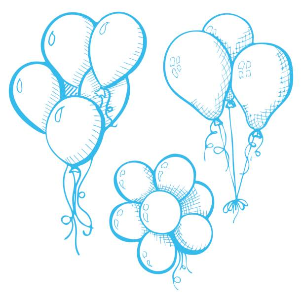 Bunch Of Balloons Illustrations, Royalty-Free Vector