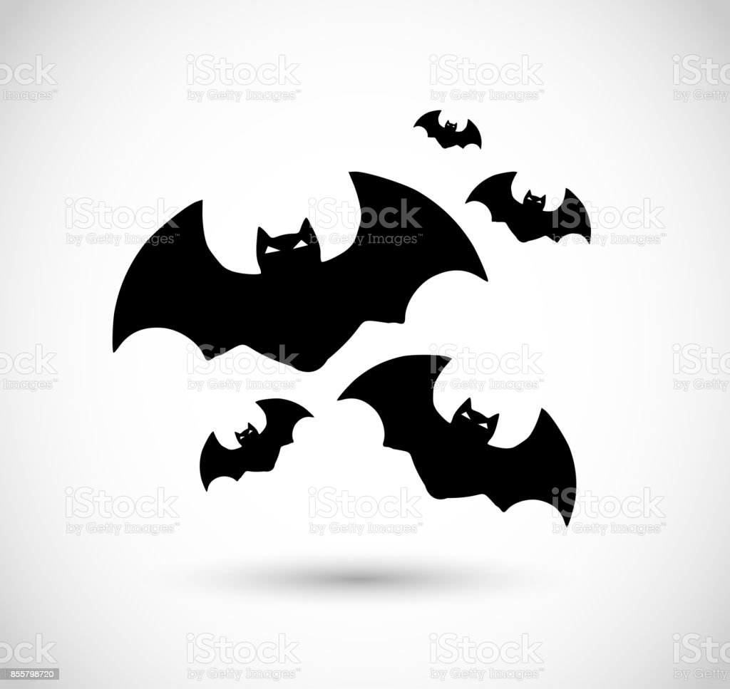 Group of bats VECTOR icon vector art illustration