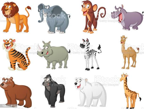 Group of big cartoon animals vector illustration of funny happy vector id1084218122?b=1&k=6&m=1084218122&s=612x612&h=qx9zqeboqluxobrqtfrlkqsdq3 aoia5mwbkq1s3xcy=