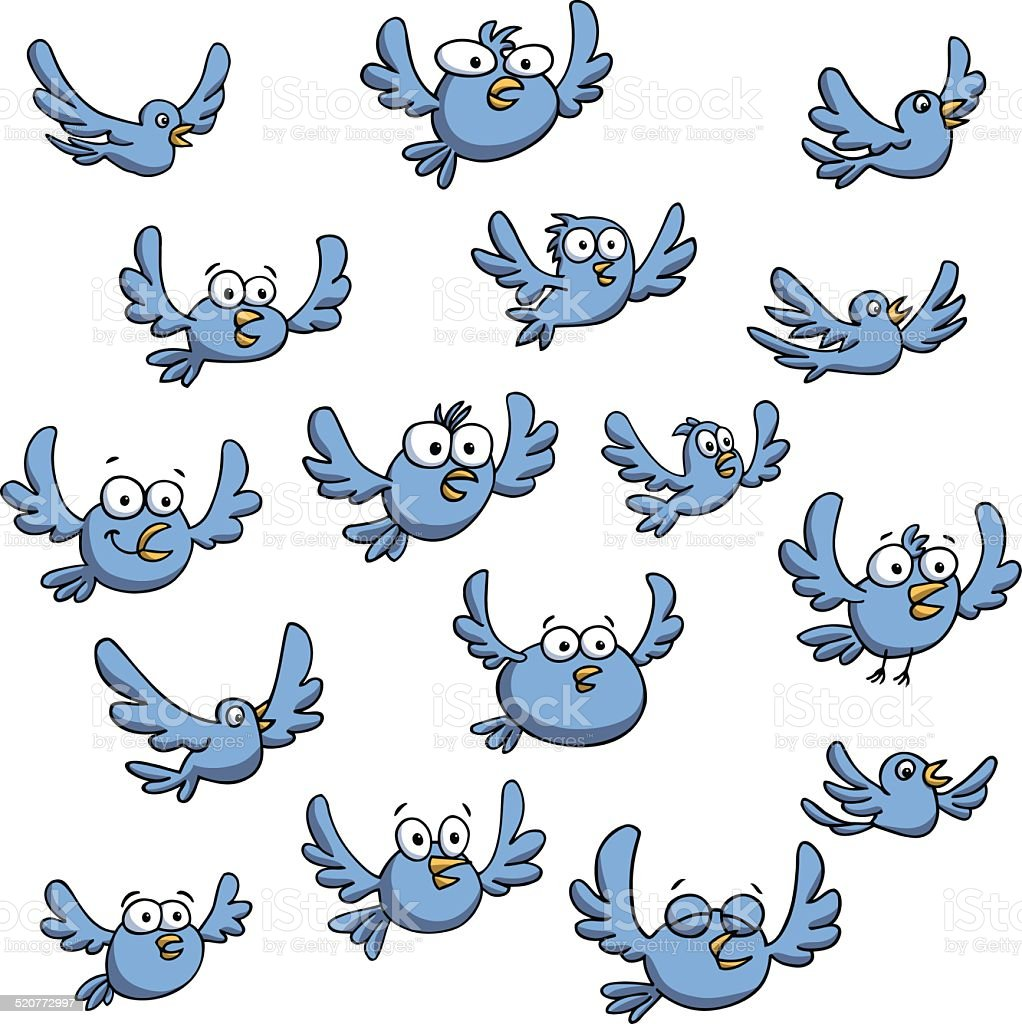 Group Of Birds Flying Vector Illustration Stock ... - photo#22