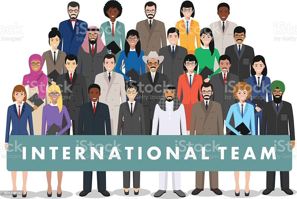 Group of business men and women. Business team. Teamwork concept. vector art illustration