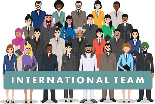 Group of business men and women. Business team. Teamwork concept. vector art illustration
