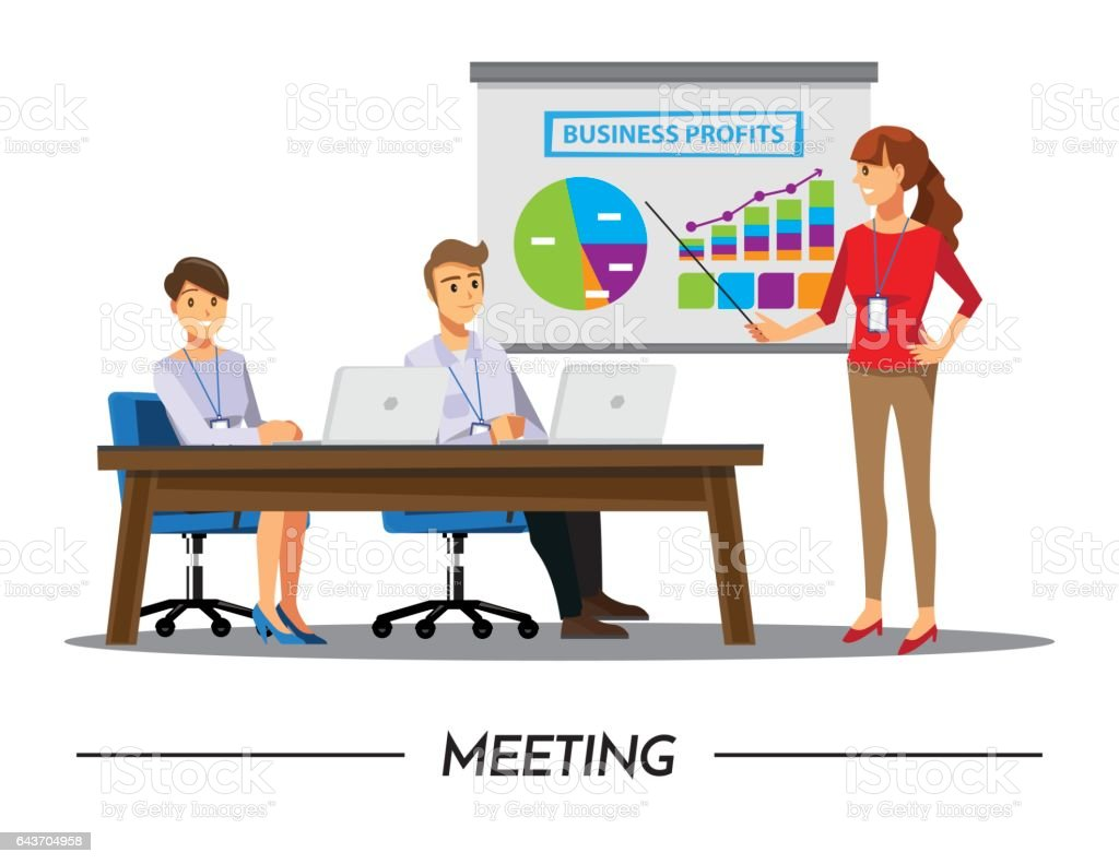 Set of business people cartoon characters Vector Image |Business Meeting Cartoon Person