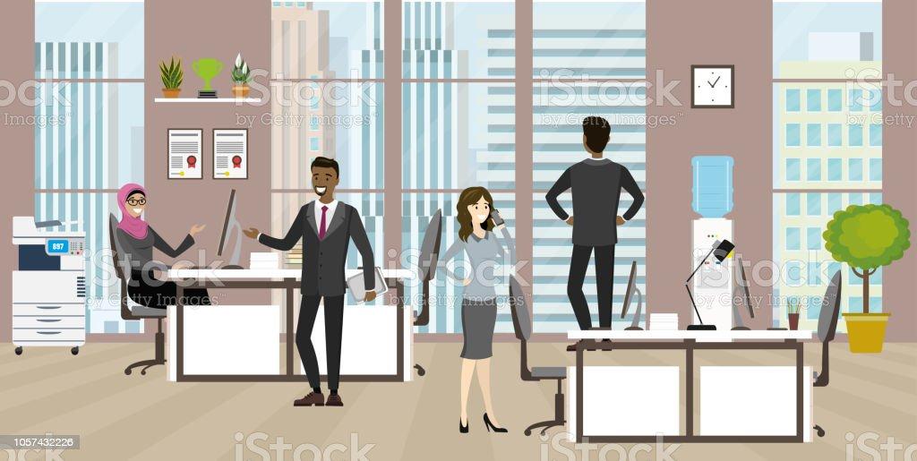 Groupe de travailleurs de personnes ou de bureau business bureau