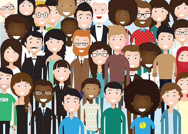 gruppe des business personen - kulturen stock-grafiken, -clipart, -cartoons und -symbole
