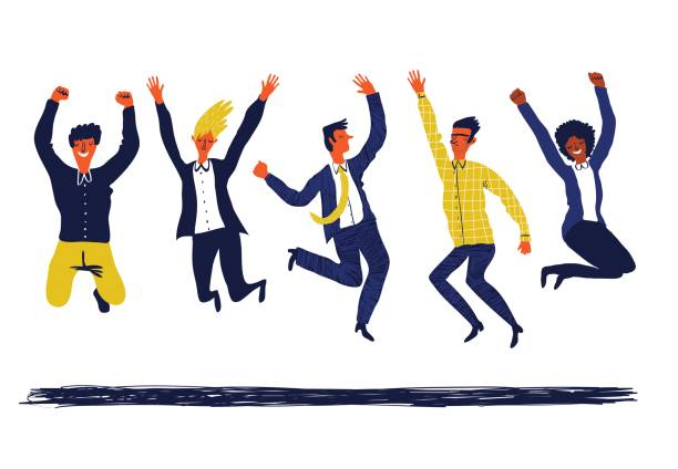 group of business people - cheerful stock illustrations