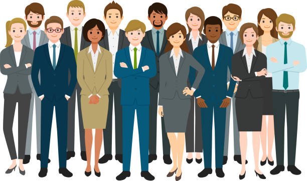 group of business people - business people stock illustrations