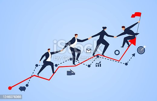 istock A group of businessmen holding hands on a business chart 1246076365