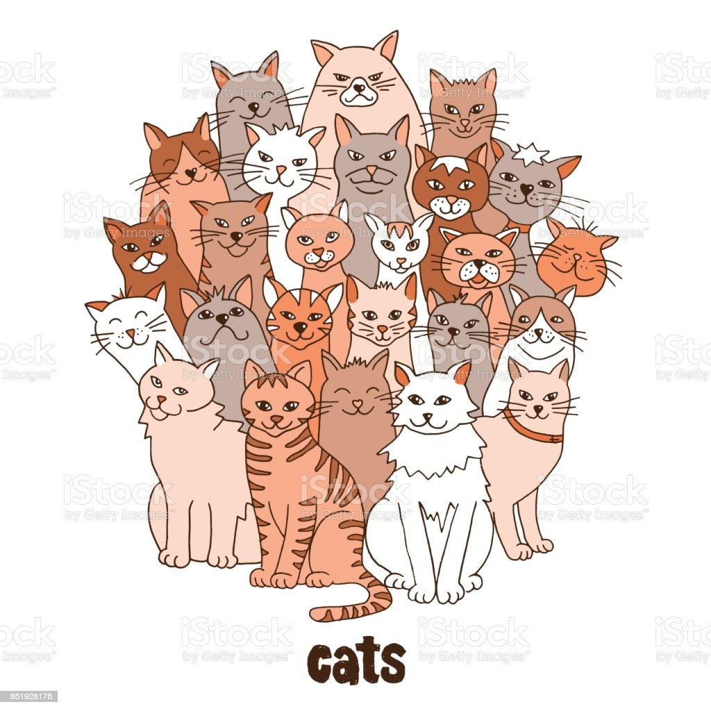 Group of cats royalty-free group of cats stock vector art & more images of animal