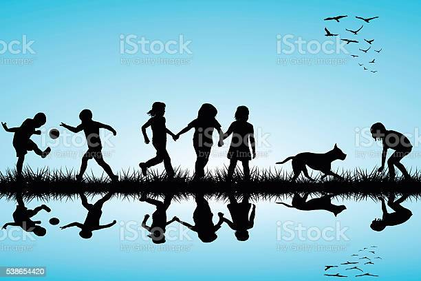 Group of children and a dog playing outdoor vector id538654420?b=1&k=6&m=538654420&s=612x612&h=1icuheuof3arxslt2kaw5qiz nkqp46ducht7jslv94=