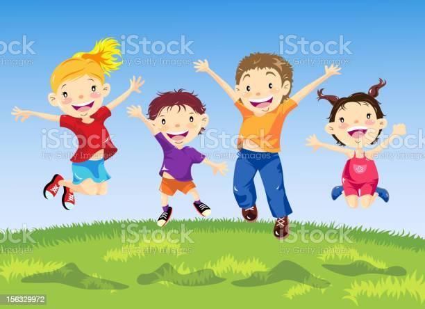 Group of children jumping in spring vector id156329972?b=1&k=6&m=156329972&s=612x612&h=3hiyavybwre07wfhopmzrlxcwesdgo5zywpwavxcku8=