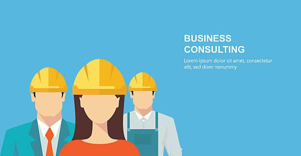 ilustraciones, imágenes clip art, dibujos animados e iconos de stock de grupo de trabajadores de la construcción - obrero de la construcción