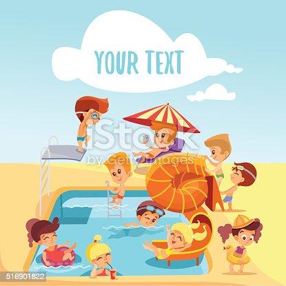 1a015f329 997004868istock Grupo de lindo poco niños jugando en la piscina. 516901822