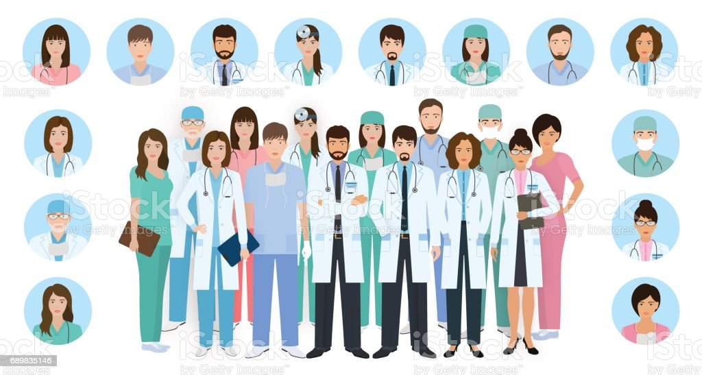 Group Of Doctors Clipart Royalty Free Team Even...