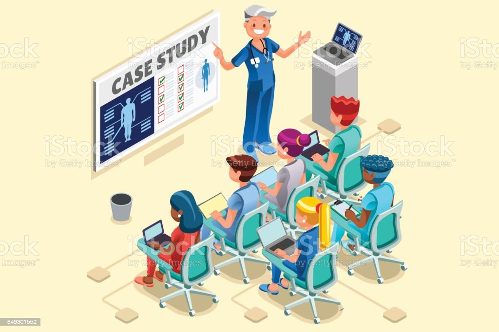 医師や看護師のベクトルの漫画のグループ ベクターアートイラスト