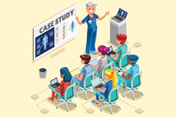 ilustraciones, imágenes clip art, dibujos animados e iconos de stock de grupo de médicos y enfermeras dibujos animados de vector - reunión evento social