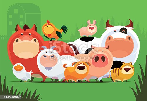 istock group of domestic animals meeting 1262615052