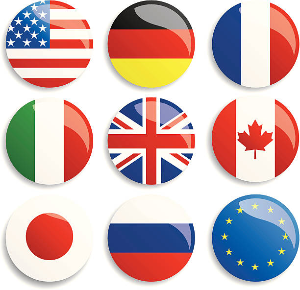 group of eight - union jack flag stock illustrations, clip art, cartoons, & icons