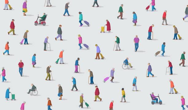 illustrations, cliparts, dessins animés et icônes de groupe de personnes âgées ou de personnes âgées personnes - gériatrie