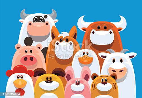 istock group of farm animals gathering 1178524134