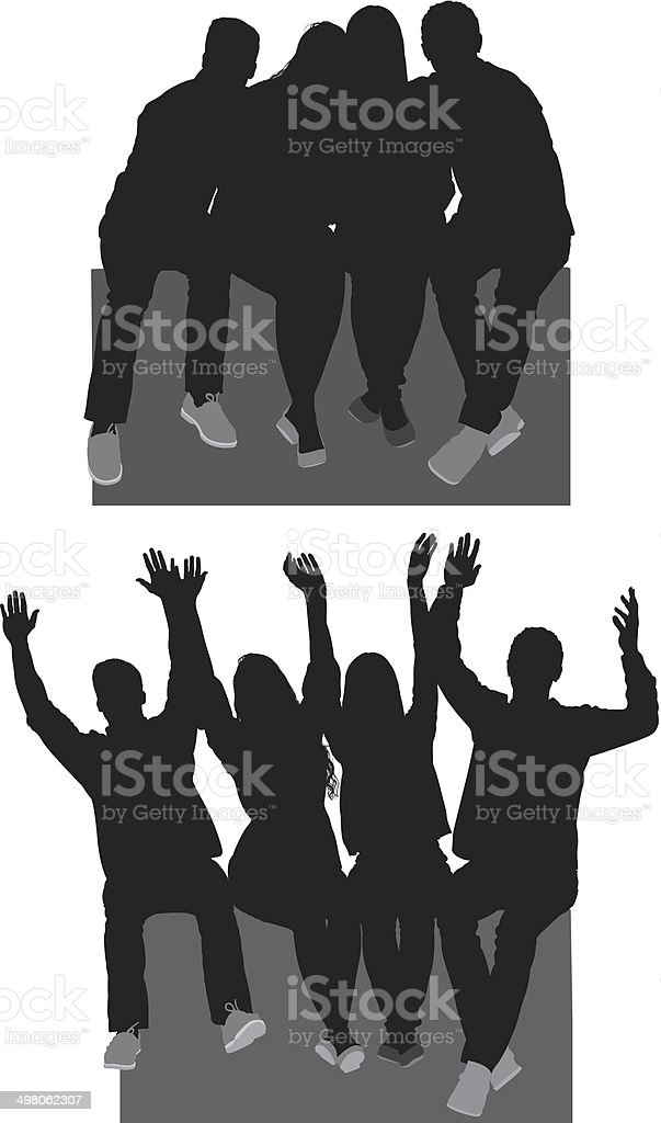 Group of friends royalty-free group of friends stock vector art & more images of adult