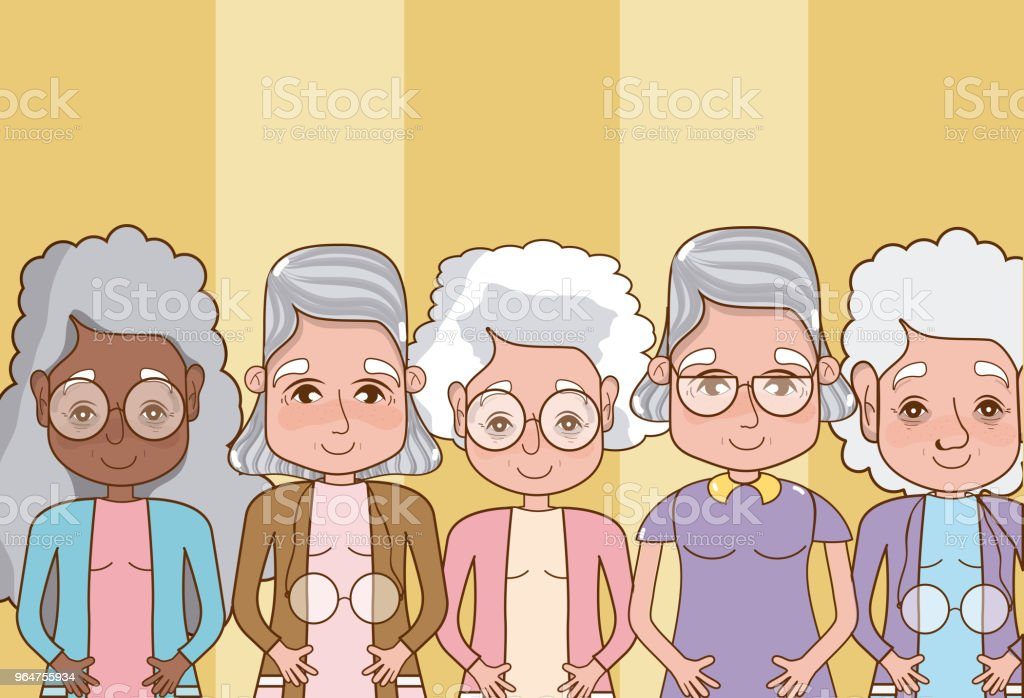 Group of grandparents cartoons royalty-free group of grandparents cartoons stock vector art & more images of adult