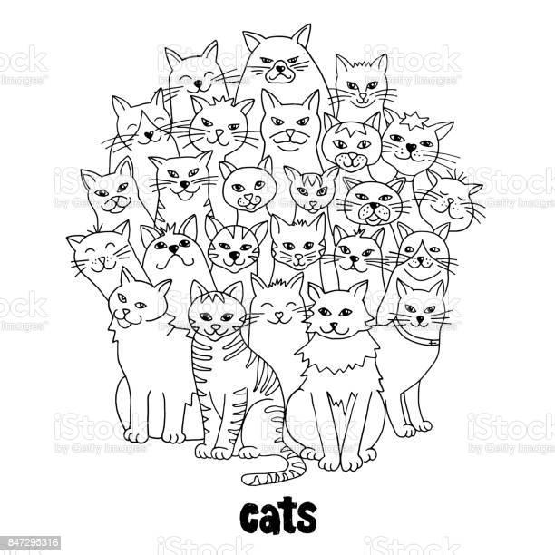 Group of hand drawn cats vector id847295316?b=1&k=6&m=847295316&s=612x612&h=bpqof0mzupw21jathwnl5ezo3skosntp00oeikp3wv4=