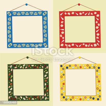 Group Of Homemade Crafty Picture Frames Stock Vector Art & More ...