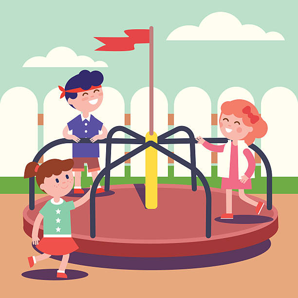 Royalty Free Roundabout Playground Clip Art, Vector Images ...