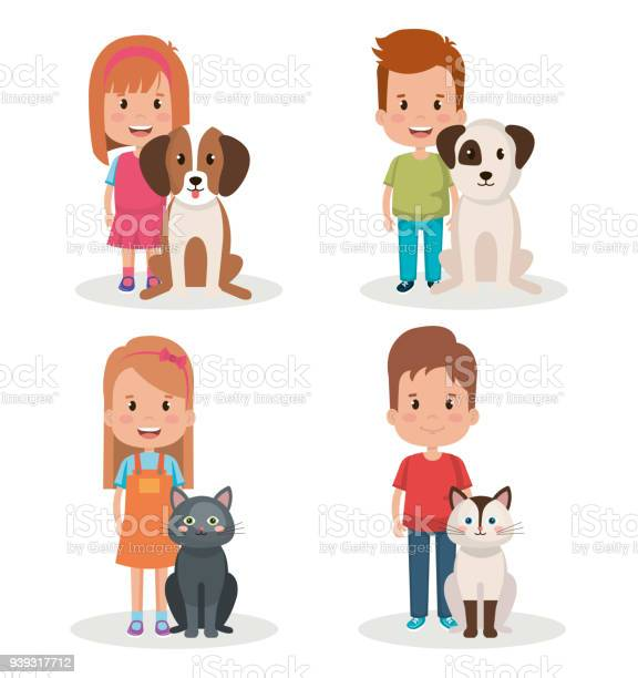 Group of kids with pets little characters vector id939317712?b=1&k=6&m=939317712&s=612x612&h=na4 yb2gyyhk1bclthmynjr4zsxx1rfei3rterjsycw=
