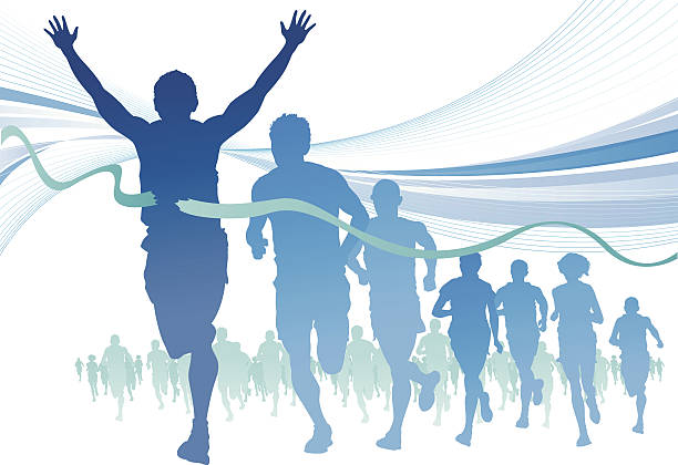 Best Marathon Illustrations, Royalty-Free Vector Graphics ...