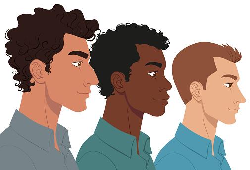 Group of multi ethnic men