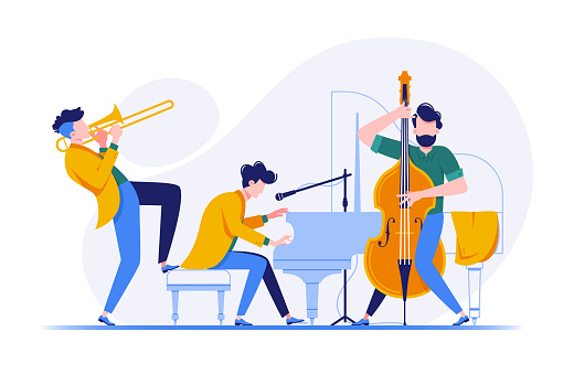 Group of musicians playing classical instruments.