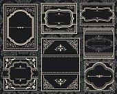 istock A group of old black ornate vintage frames 167590685