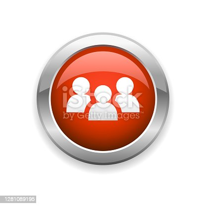 istock Group of People and Teamwork Glossy Icon 1281089195