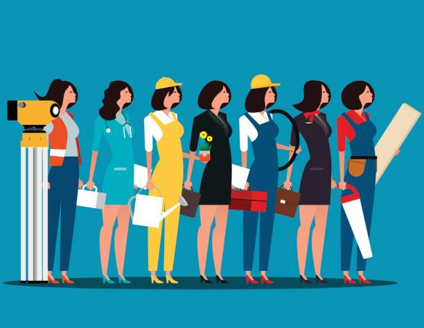 Group of people career characters. Labor day. Concept career character vector illustration. vector art illustration