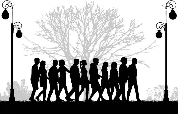 Royalty Free Walk In The Park Clip Art, Vector Images ...