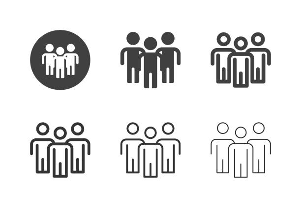 Group of People Icons - Multi Series vector art illustration