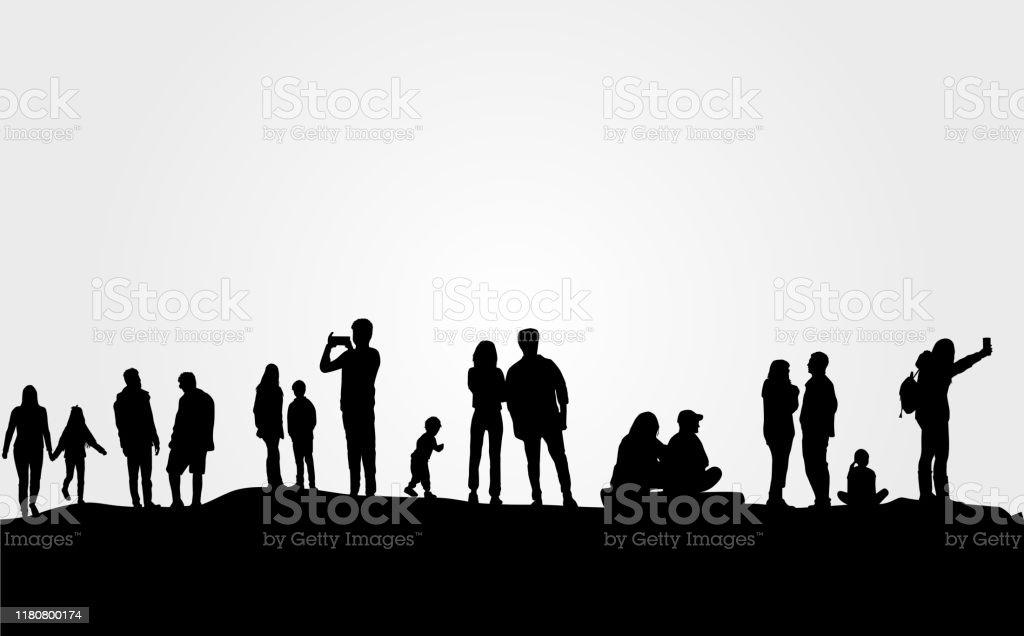 Groupe De Personnes Vecteurs libres de droits et plus d'images vectorielles  de Adulte - iStock
