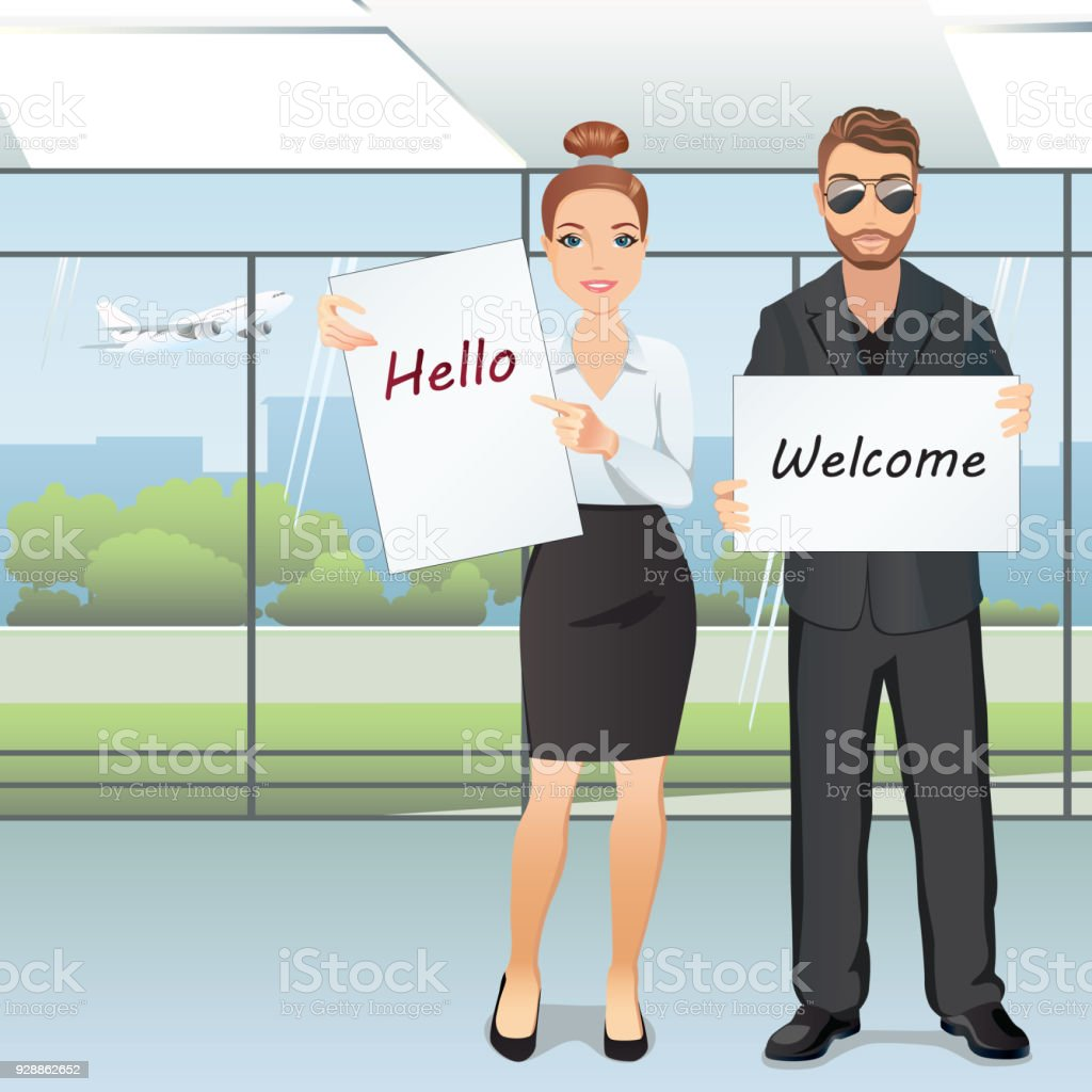 Group of people meet someone in airport hall a woman and a man greet group of people meet someone in airport hall a woman and a man greet someone m4hsunfo
